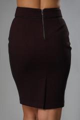 Юбка женская узкая темно-бордового цвета в мелкую клетку Axara