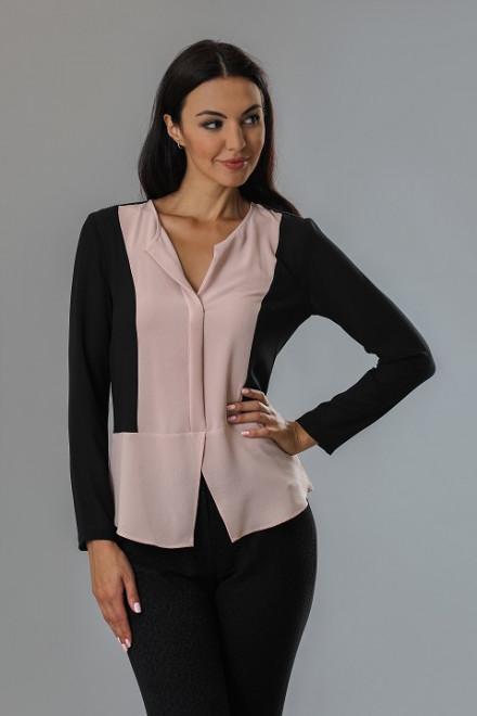 Блуза женская с длинным рукавом отрезную по талии Axara