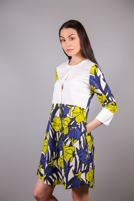 Платье-рубашка женское с длинным рукавом в цветочный принт Beatrice b