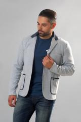 Серый трикотажный пиджак Carl Gross 2