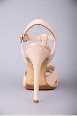 Босоножки женские из натуральной кожи бежевого цвета на высоком каблуке Fabio di Luna 2