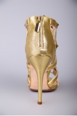 Босоножки женские плетеные золотого цвета Fabio di Luna 2