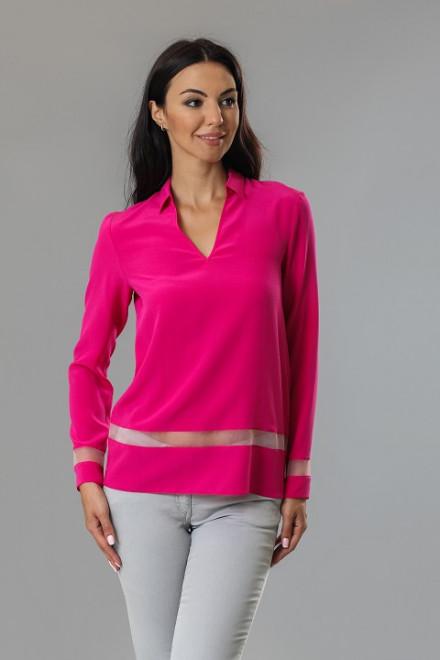 Блуза женская шелковая цвета фуксия St Emile