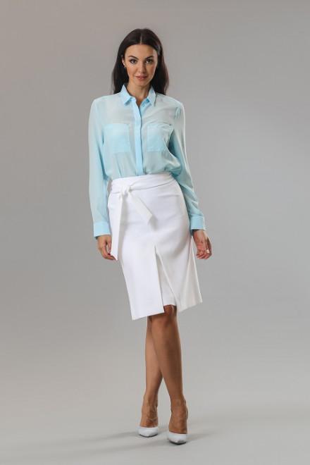 Блуза женская шелковая с длинным рукавом St.Emile