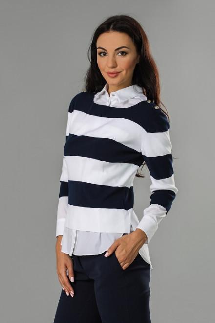 Пуловер женский в полоску St. Emile