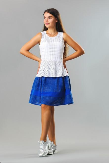 Юбка женская пышная с сеткой на подкладке синего цвета Kocca