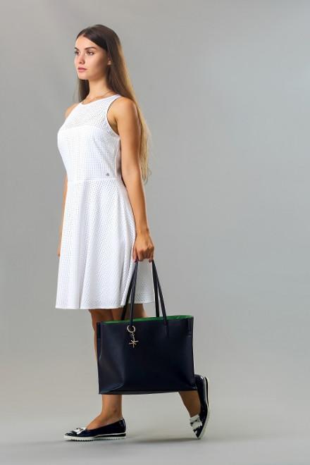Платье женское без рукавов белое с накидкой из тонкой сетки Kocca