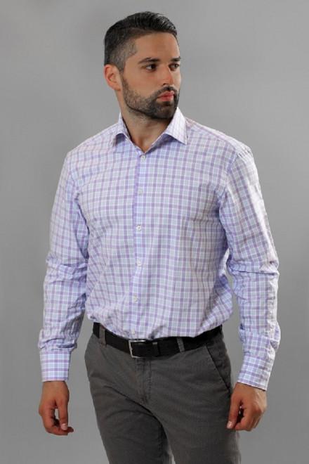 Рубашка мужская светло-фиолтеова  van Laack