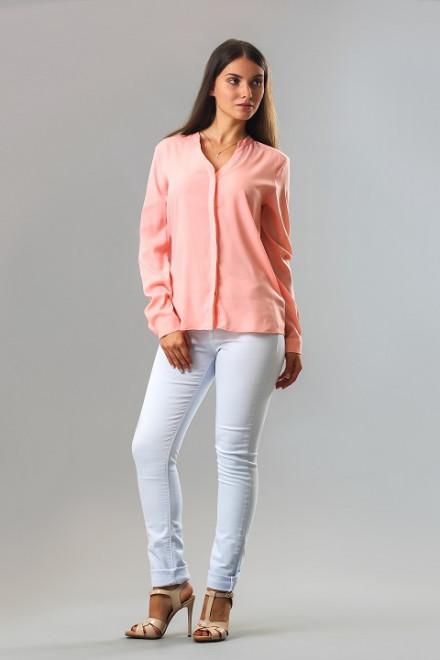 Блуза женская с длинным рукавом персиковая Rich&Royal