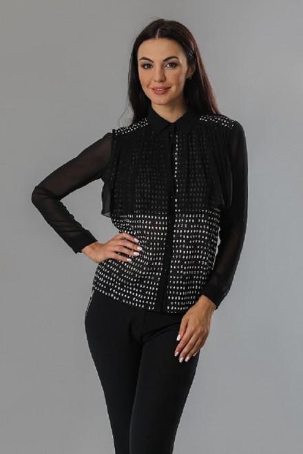Блуза женская с длинным рукавом прямого кроя Axara
