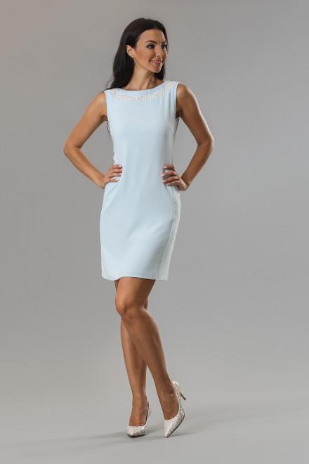 Платье женское мини без рукавов светло-голубое Axara