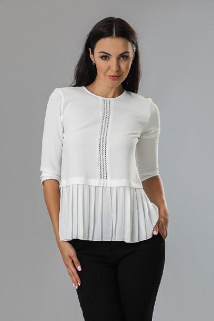 Блуза женская с четвертным рукавом белая Axara