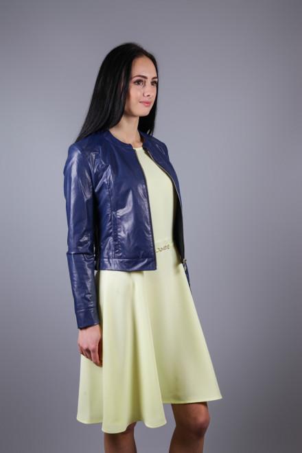 Куртка женская короткая из эко кожи на молнии Maison Espin