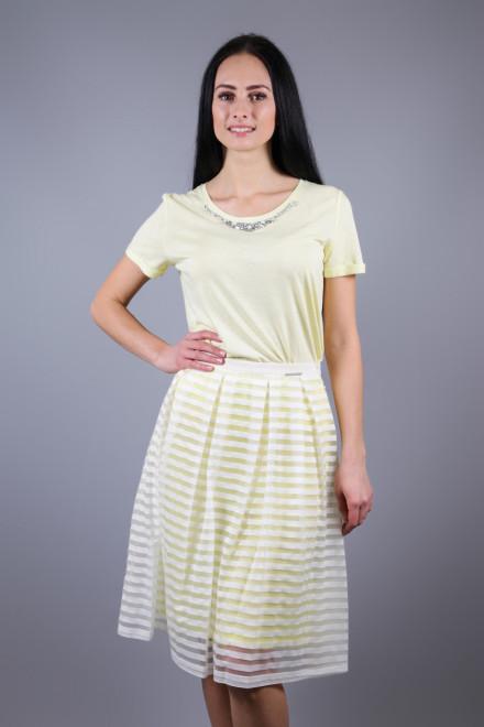 Юбка женская пышная из белой сетки с подъюбником Maison Espin