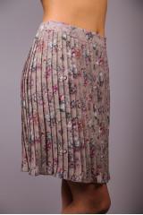 Юбка женская плиссе бежевого цвета в цветочный принт Maison Espin