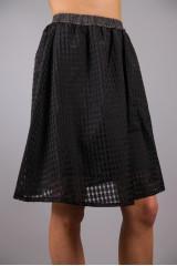 Юбка-сетка пышная черного цвета в клетку Maison Espin