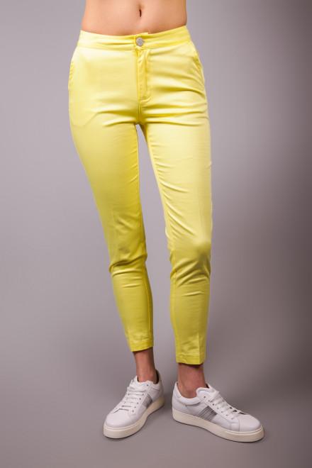 Брюки женские узкие желтые Maison Espin
