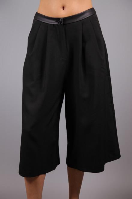 Брюки-юбка женская широкая черная Maison Espin