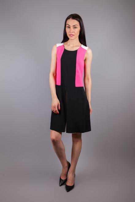 Платье женское без рукавов свободное черного цвета цветными вставками Beatrice b