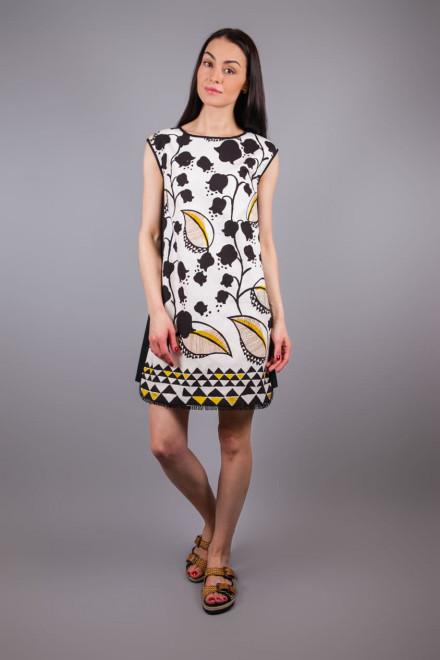 Платье женское без рукавов мини с растительным принтом Beatrice b