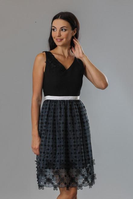 Платье женское без рукавов  с пышной кружевной юбкой Beatrice b