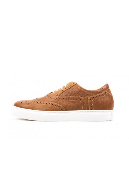 Спортивные туфли коричневые с перфорацией Andrea Morelli