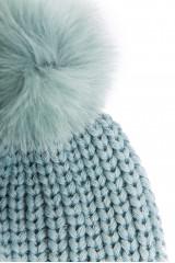 Шапка женская голубого цвета с помпоном Gil Bret