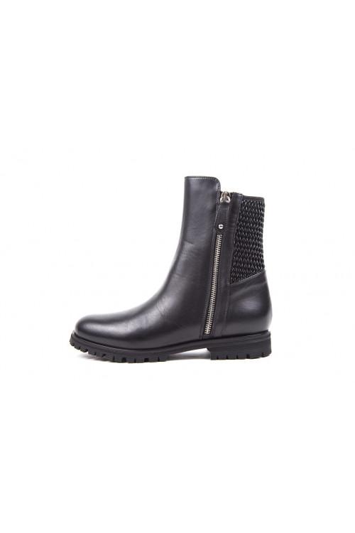 Ботинки женские черного цвета на низком ходу Fabio di Luna