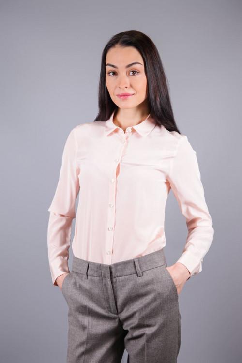 Блуза женская с длинным рукавом цвет пудра van Laaсk