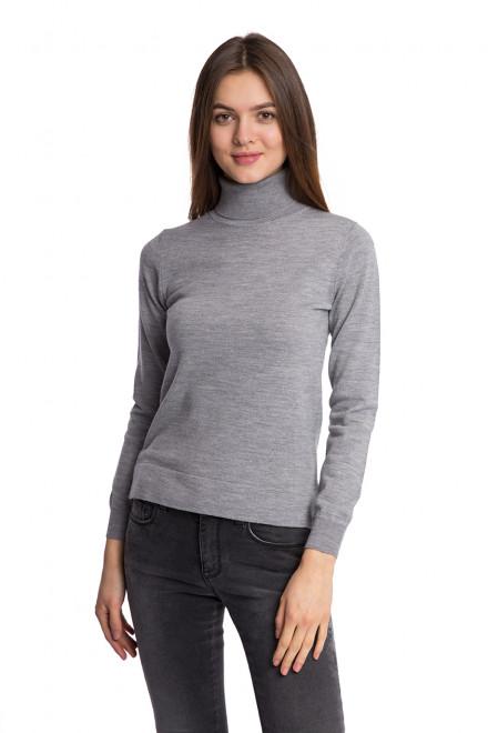 Пуловер женский с высоким воротником под горло серого цвета Beatrice B