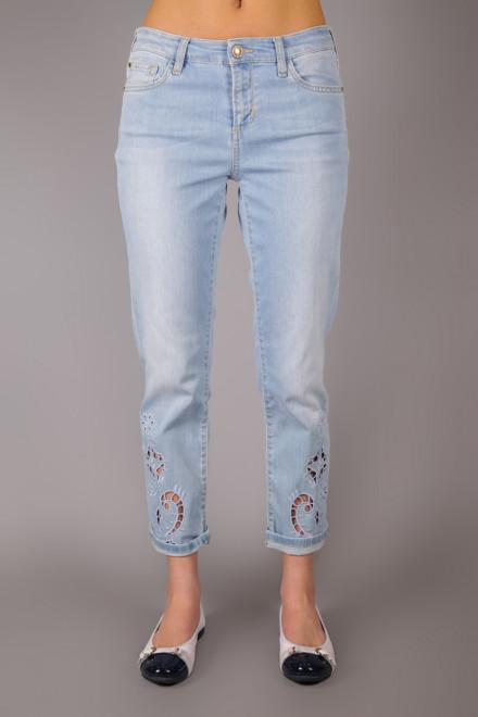 Джинсы женские светло-голубые с вышивкой River Woods