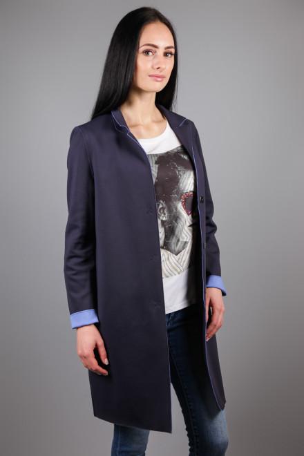 Пальто женское темно-синее на пуговицах Rich&Royal