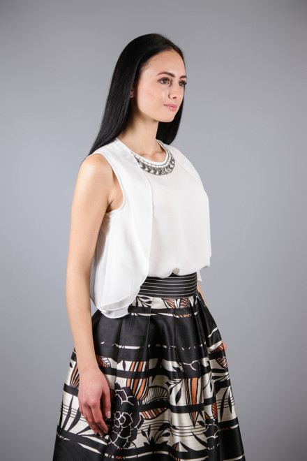 Блуза женская без рукавов белая Kocca