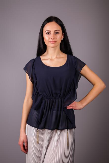 Блуза женская с коротким рукавом чернильно-синяя Kocca