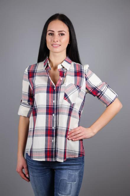 Рубашка женская с длинным рукавом и кружевной вставкой на спине Kocca