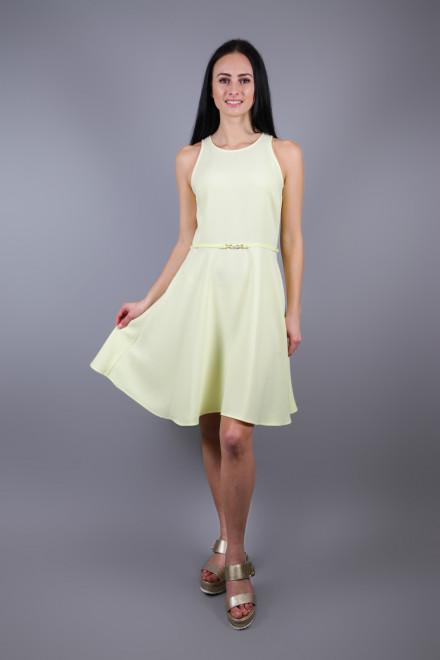 Платье женское без рукавов приталенное лимонного цвета Kocca