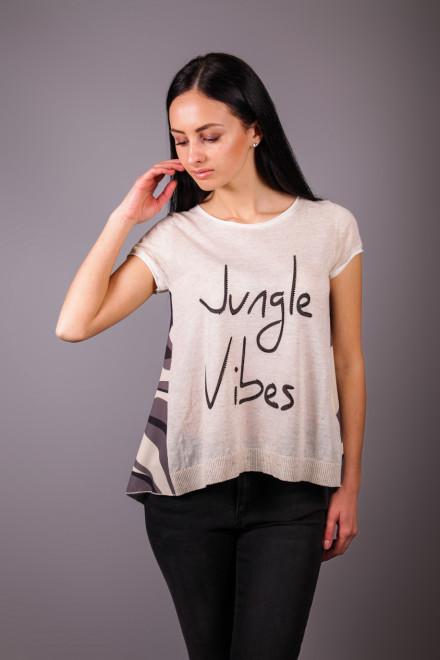 """Футболка женская с надписью """"Jungle vibes"""" Kocca"""