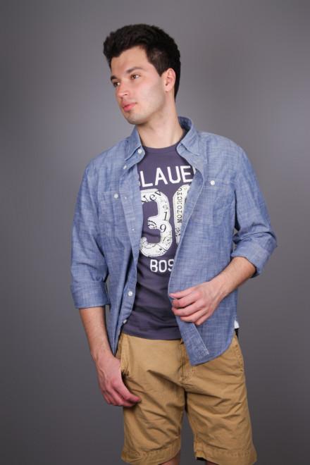 Рубашка мужская из денима Blauer. USA