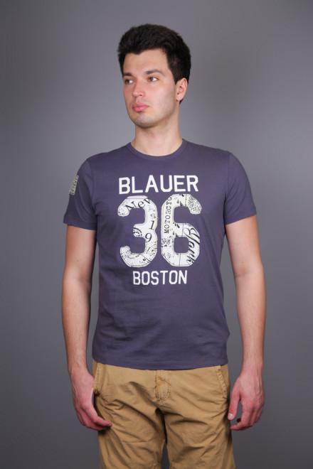 Футболка мужская с принтом Blauer