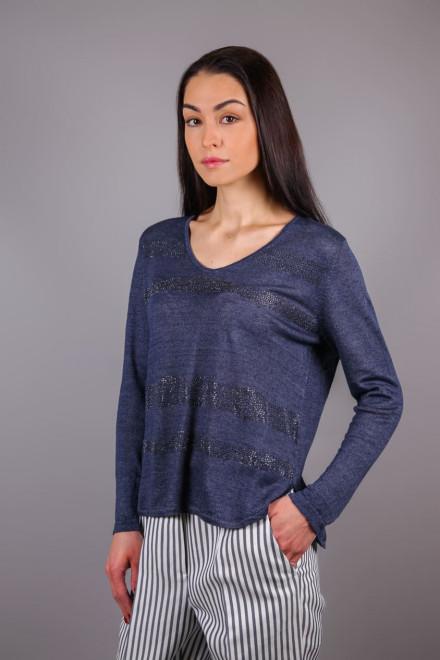 Пуловер жіночий в чорну смужку Luisa Cerano