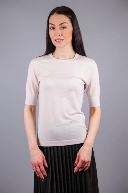 Пуловер с коротким рукавом светло-бежевый Luisa Cerano