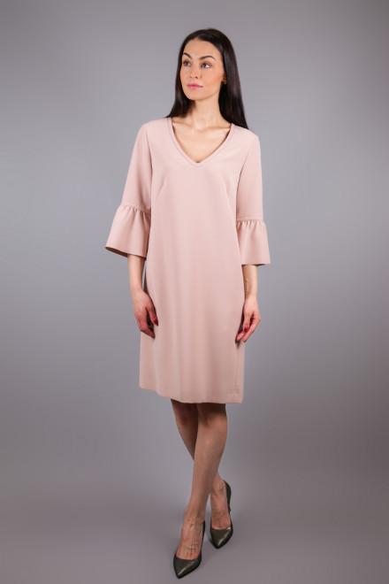 Платье женское с четверным рукавом пудрового цвета Luisa Cerano