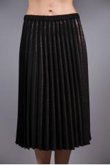Юбка женская гофре темно-бордового цвета с металлическими нитями Luisa Cerano