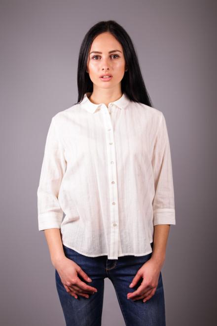 Блуза женская с четверным рукавом белая Kocca