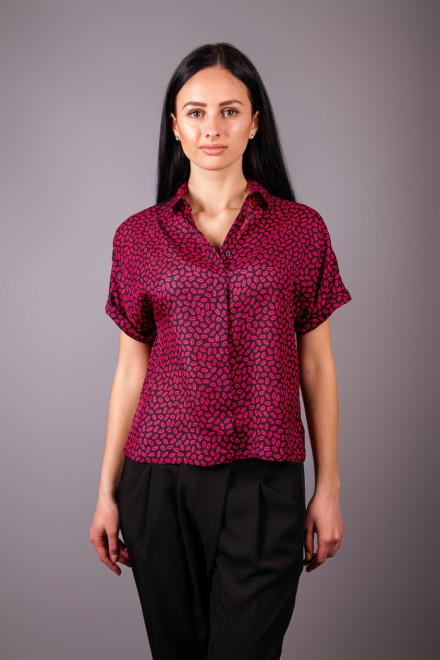 Блуза женская с коротким рукавом и ярким принтом Kocca