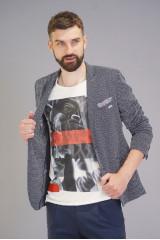 Серый трикотажный пиджак Carl Gross 3