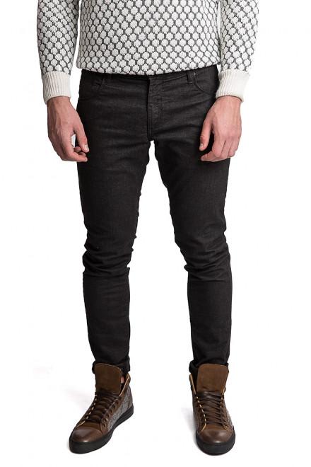 Штаны мужские черного цвета узкие со средней посадкой Antony Morato