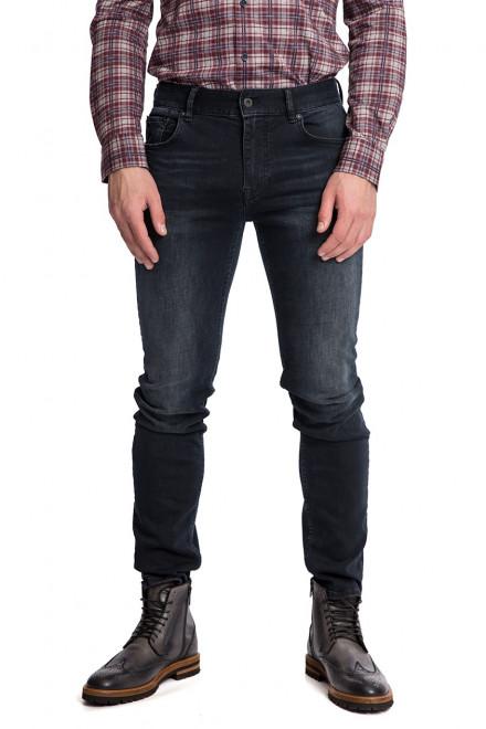 Джинсы мужские темно-серого цвета с потертостями узкие Junk de Luxe