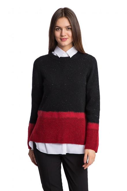 Пуловер женский трехцветный Luisa Cerano