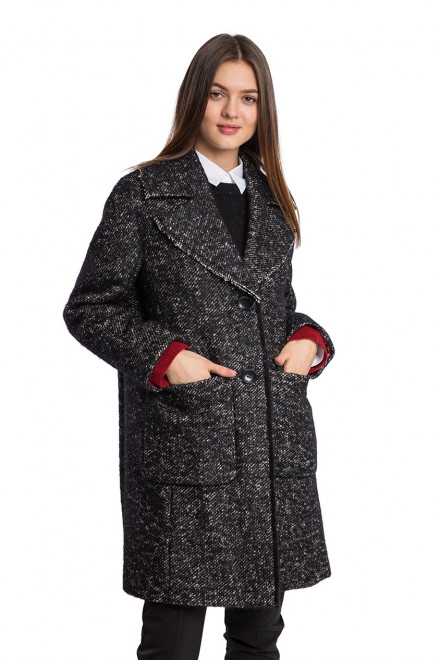 Пальто жіноче чорне Luisa Cerano